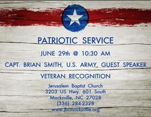 Patriotic Service 6-29-14